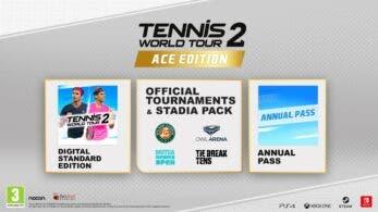 Se detalla el contenido de la edición estándar y la Ace Edition de Tennis World Tour 2