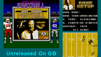 Aparece en Internet el port inédito de John Madden Football de Ubisoft para Game Boy