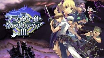 Flyhight Cloudia 3 llegará a Nintendo Switch este mes en Japón