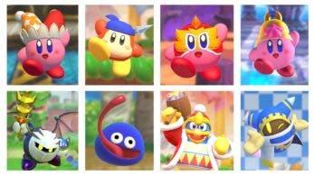 Kirby Fighters 2: Todos los personajes y habilidades de copia del juego