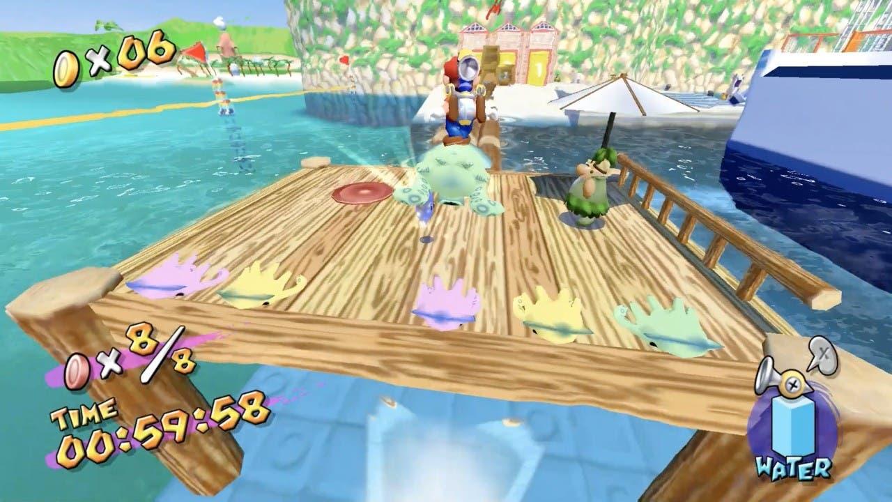 Super Mario 3D All-Stars: Cómo terminar con seguridad la prueba de surfear en Blooper de Super Mario Sunshine