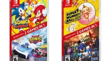 Los packs dobles de Sonic Mania + Team Sonic Racing y Sonic Forces + Super Monkey Ball: Banana Blitz HD ya están disponibles en Nintendo Switch