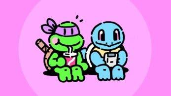 Echad un vistazo a este arte protagonizado por Squirtle y Donatello dibujado por James Turner, diseñador de Pokémon