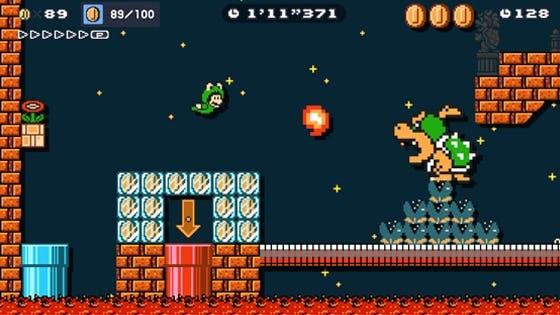 Nuevo desafío Contrarreloj Ninji de Super Mario Maker 2 con Mario Rana