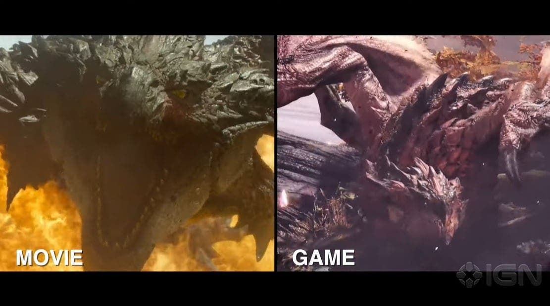 Comparativa en vídeo de Diablos y Rathalos de Monster Hunter: Película vs. videojuego