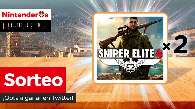 ¡Sorteamos 2 copias de Sniper Elite 4 para Nintendo Switch!