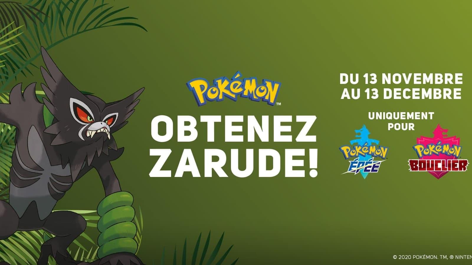 La tienda francesa MicroMania permite conseguir a Zarude mediante un código por correo electrónico