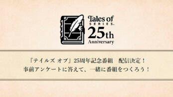 Anunciado un directo por el 25º aniversario de la serie Tales of