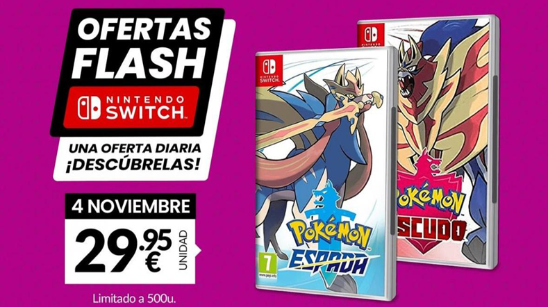 Oferta flash causa furor al rebajar Pokémon Espada y Escudo a 29,95€ por tiempo limitado