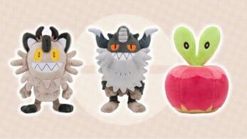 Pokémon Center anuncia los peluches oficiales de Meowth de Galar, Perrserker y Applin