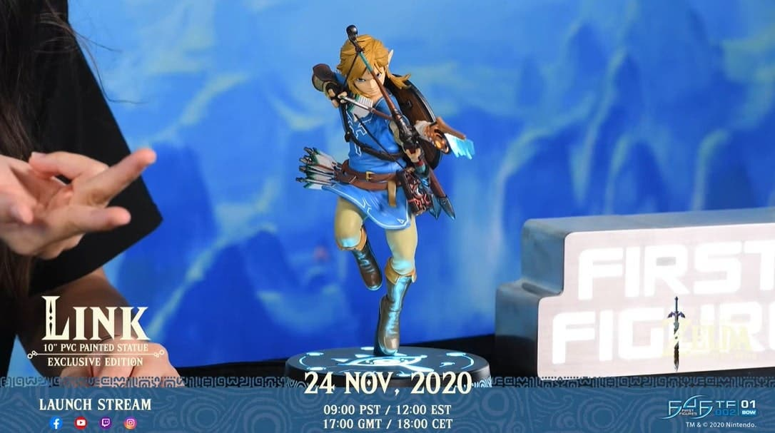 First 4 Figures avanza novedades de la estatua de Link en Zelda: Breath of the Wild con este vídeo