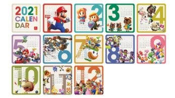 La My Nintendo Store europea recibe un calendario temático de Nintendo de 2021