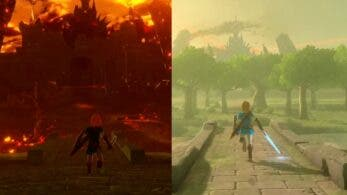 Comparativa detallada en vídeo de la ciudad del Castillo de Hyrule en Hyrule Warriors: La era del cataclismo vs. las ruinas de Zelda: Breath of the Wild