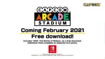 Capcom Arcade Stadium llegará como descarga gratuita en febrero de 2021 a Nintendo Switch