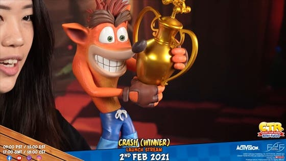 First 4 Figures anuncia una figura de colección de Crash Team Racing: Nitro-Fueled