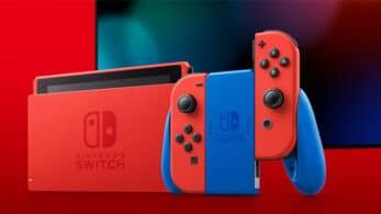 Un vistazo detallado a la caja de la nueva edición de Nintendo Switch roja y azul