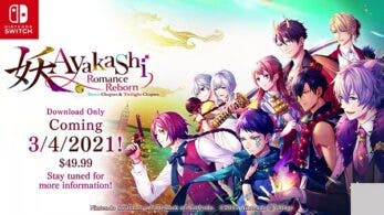 La novela visual Ayakashi: Romance Reborn Dawn Chapter & Twilight Chapter llegará a Nintendo Switch el 4 de marzo