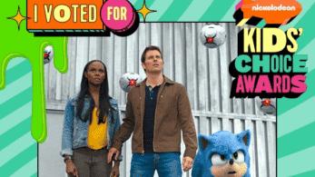 La película de Sonic the Hedgehog ha sido nominada a dos Nickelodeon Kids' Choice Awards