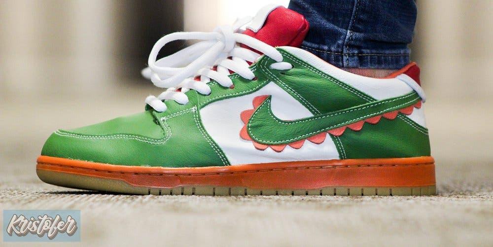 No te pierdas estas deportivas Nike personalizadas al estilo Yoshi