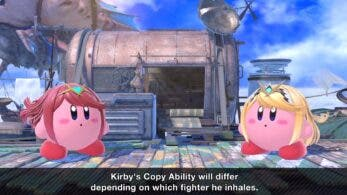 Así se ve Kirby al tragarse a Pyra y Mythra en Super Smash Bros. Ultimate