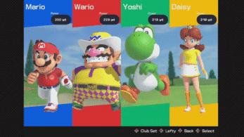 Los 11 personajes jugables y 3 campos confirmados hasta ahora en Mario Golf: Super Rush, junto a un análisis en vídeo del primer tráiler