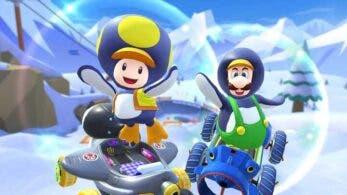 Mario Kart Tour celebra la llegada de la temporada nevada y Toad Pingüino con este vídeo