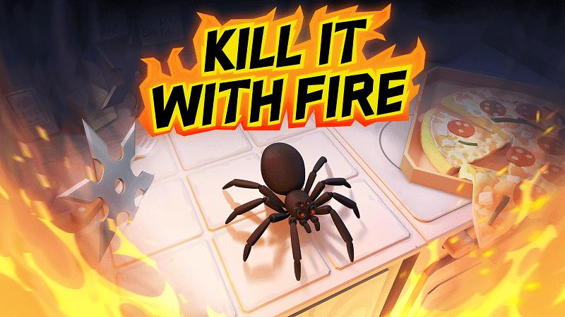Kill It With Fire, un juego de acción en primera persona sobre cazar arañas, llegará el 4 de marzo a Nintendo Switch