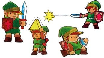 Así era Link en el manual japonés de The Legend of Zelda para Famicom