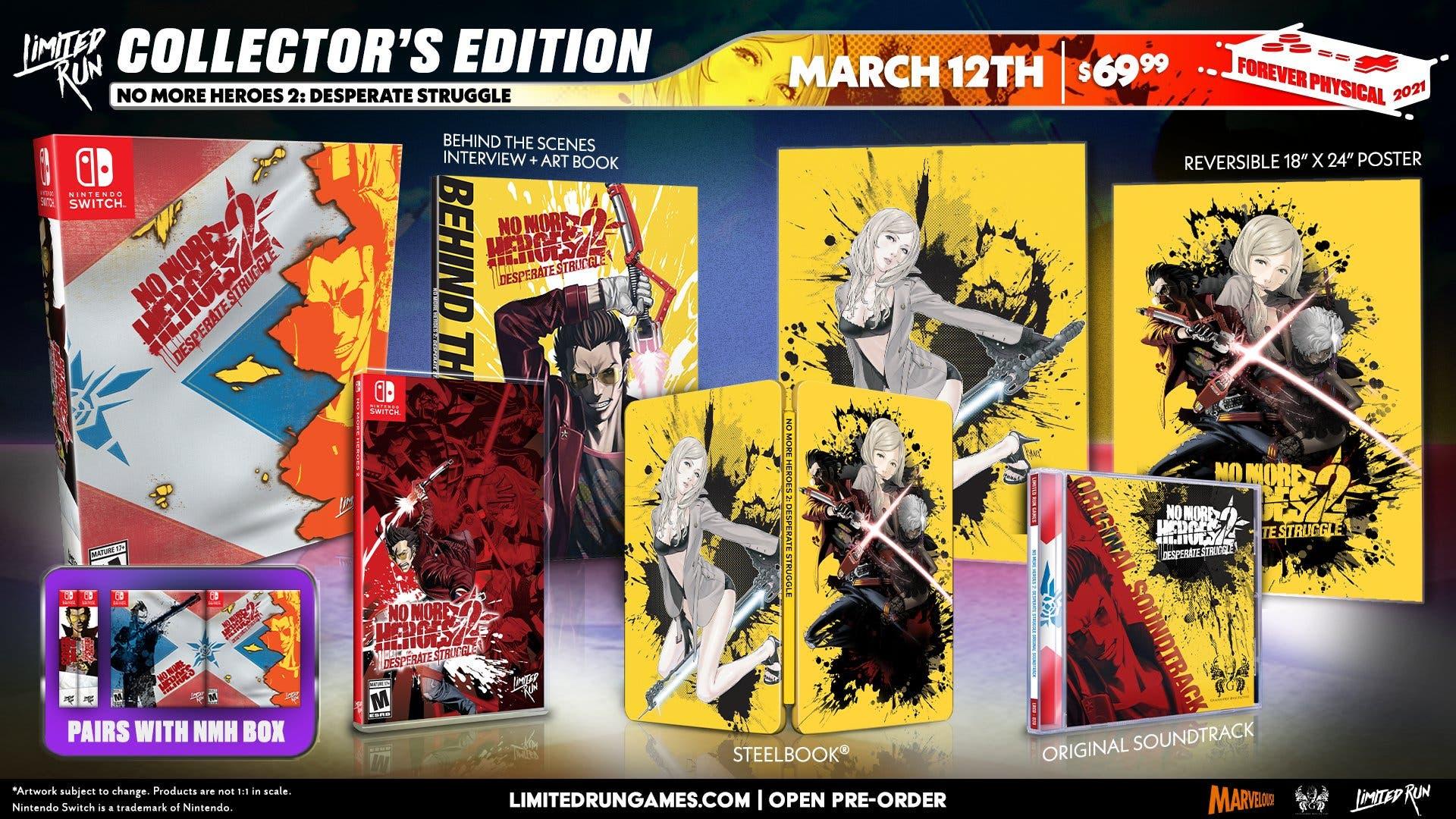 No More Heroes 1 y 2 confirman lanzamiento en formato físico y de coleccionista para Nintendo Switch