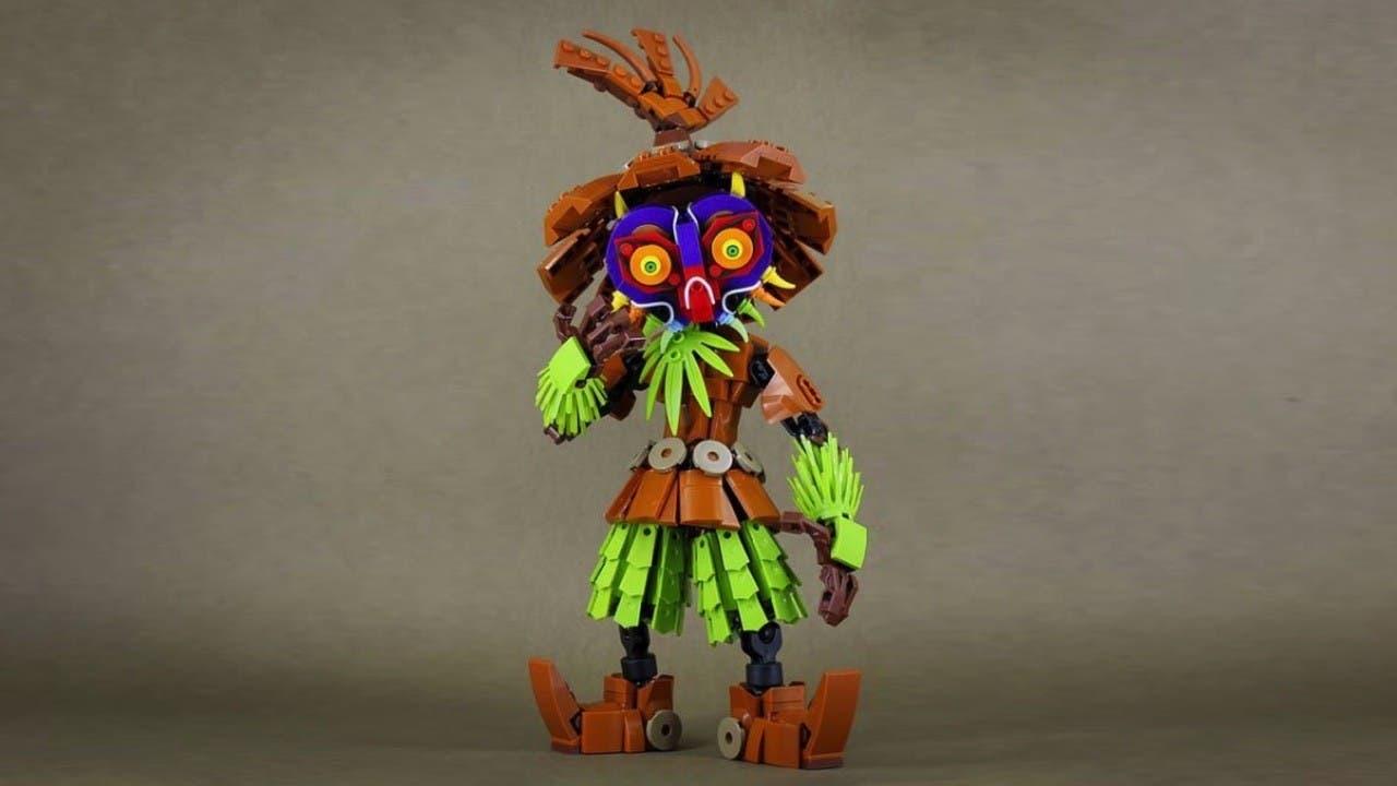 Fan de The Legend of Zelda crea esta genial figura de Skull Kid con LEGO