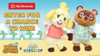 My Nintendo América sortea peluches de Animal Crossing de Build-A-Bear con Puntos de platino como participaciones