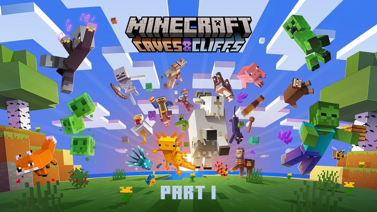 Últimos vídeos de la actualización Caves & Cliffs de Minecraft y estadísticas del primer aniversario de Minecraft Dungeons