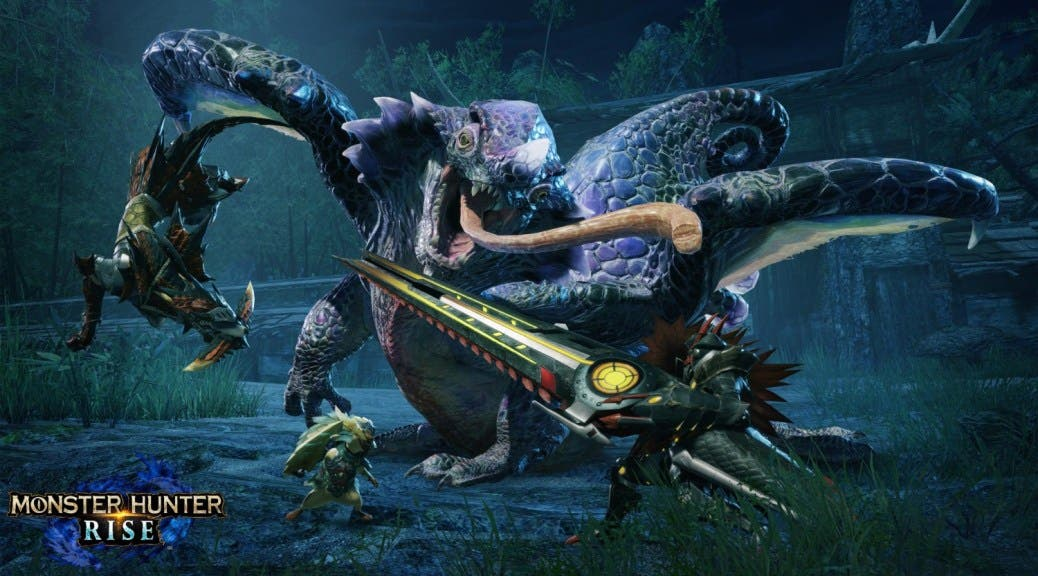 Chameleos protagoniza este nuevo fondo de pantalla oficial de Monster Hunter Rise