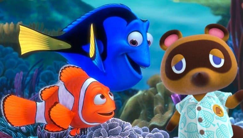 Recrean una mítica escena de Buscando a Nemo en Animal Crossing: New Horizons
