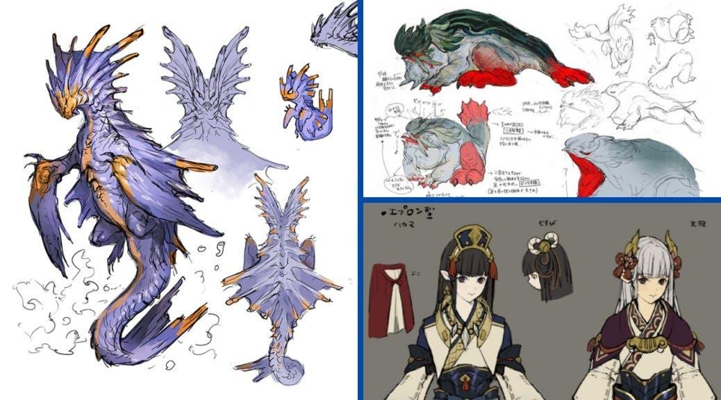 Capcom publica más artes preliminares de Monster Hunter Rise