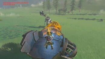 Tres cosas que pasan al juntar Centaleón + carretilla de mina en Zelda: Breath of the Wild
