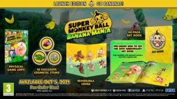 Conoce las numerosas ediciones y bonus que se ofrecerán junto a Super Monkey Ball: Banana Mania