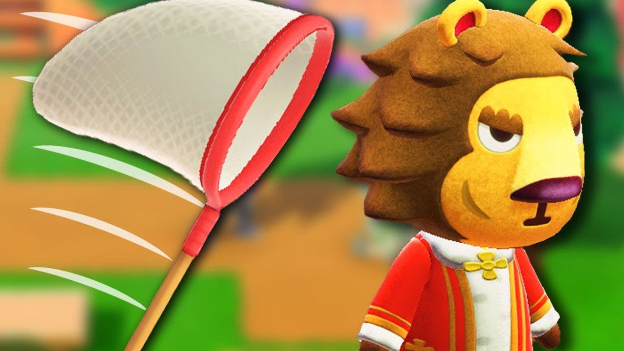Un truco que podemos aprovechar golpeando con la red a los vecinos en Animal Crossing: New Horizons
