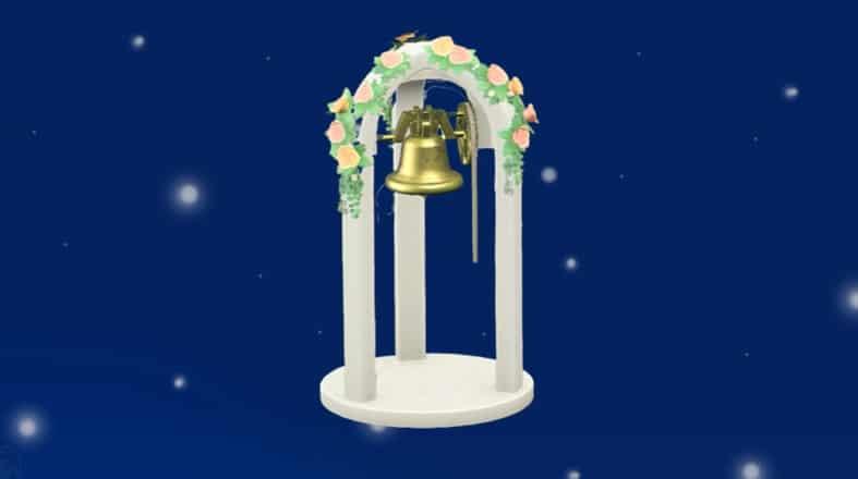 Un genial truco de decoración con la campana nupcial de Animal Crossing: New Horizons que puede que desconozcas