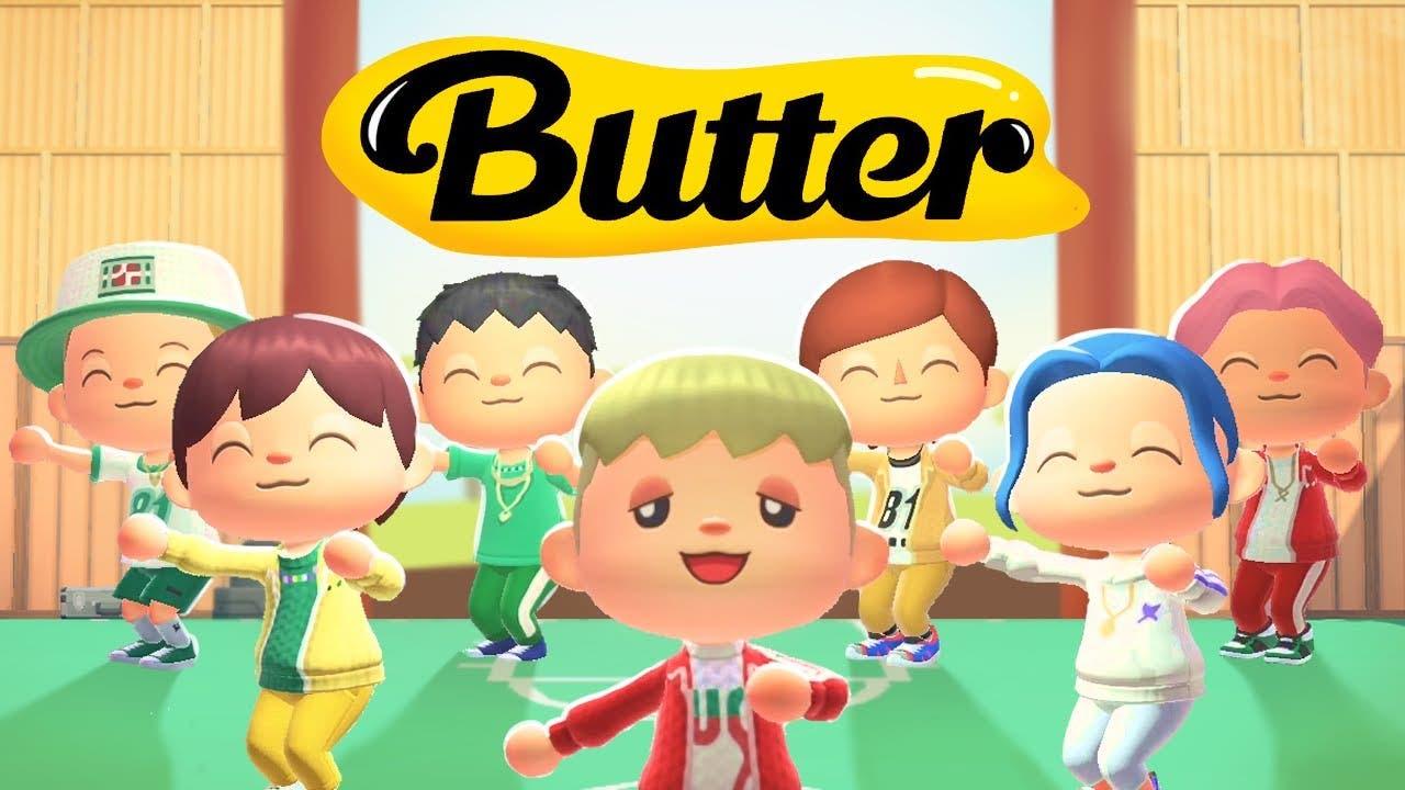 Recrean «Butter» de BTS en Animal Crossing: New Horizons