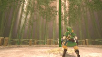 Así facilita Zelda: Skyward Sword HD el minijuego de cortar bambú