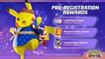 Pasos para registrarse en móviles y conseguir gratis a Festival Pikachu en Pokémon Unite
