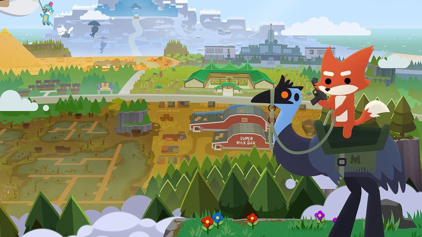 Así luce el título gratuito Super Animal Royale corriendo en Nintendo Switch