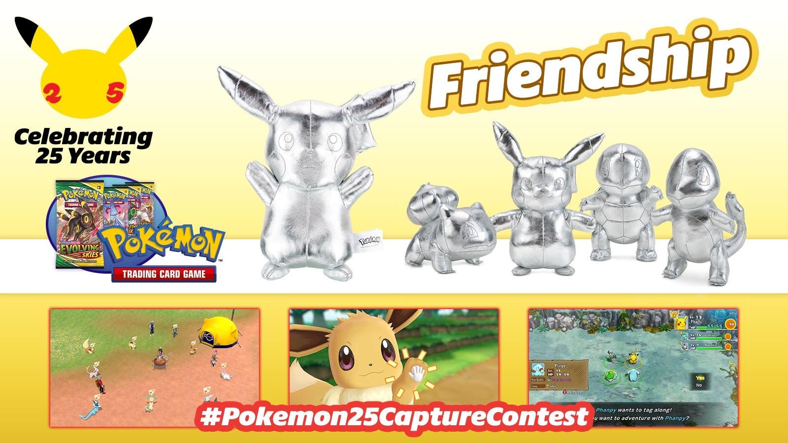 La temática del concurso fotográfico #Pokemon25CaptureContest organizado por Nintendo es la amistad