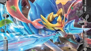 Imágenes en español de las cartas de Zacian, Mewtwo y Greninja de la colección V-UNIÓN del JCC Pokémon