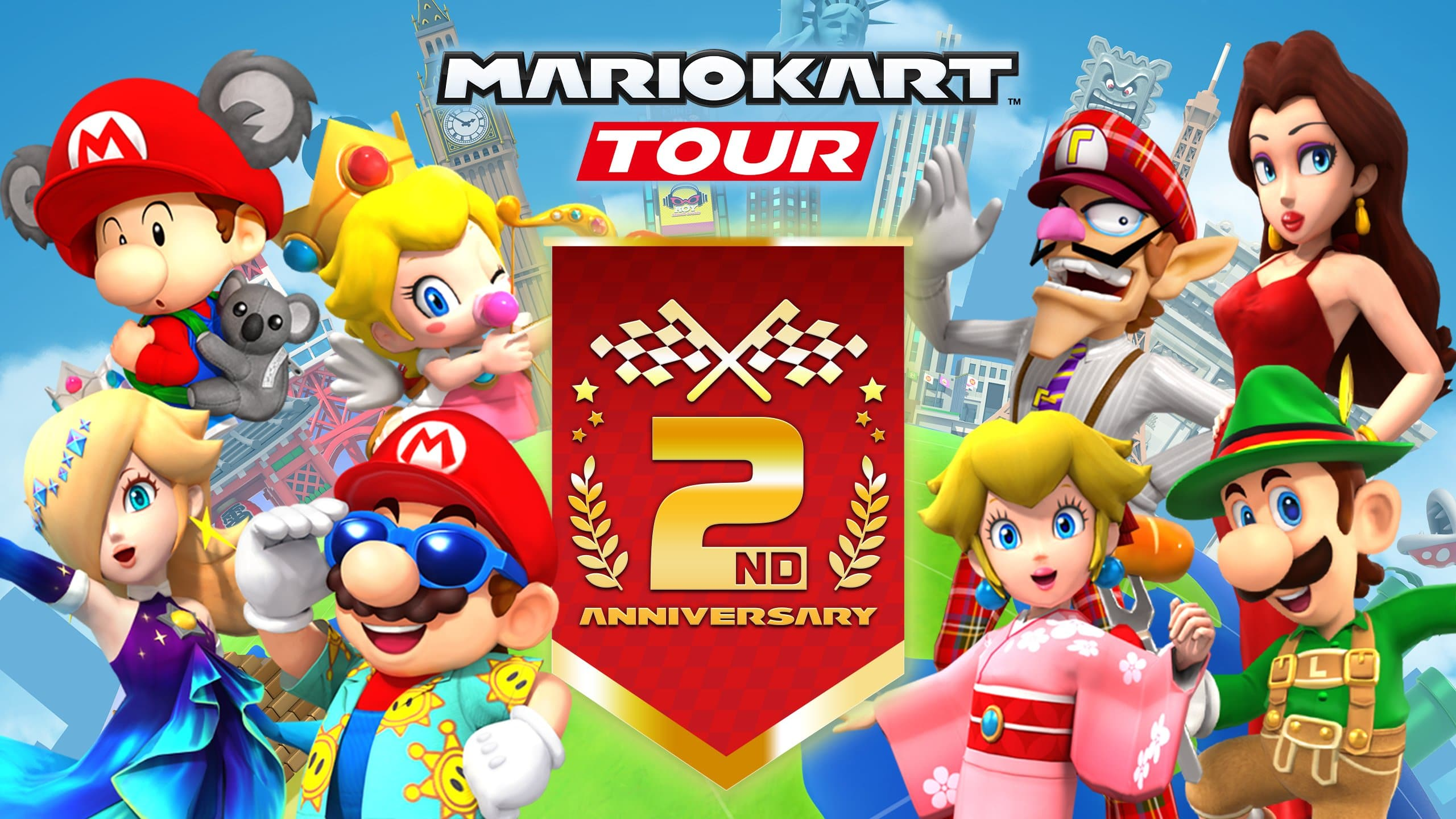 Mario Kart Tour celebra la llegada de su temporada de 2º aniversario