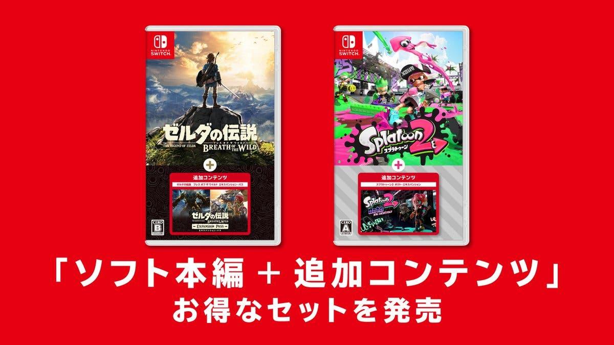 Nintendo Japón confirma packs de Zelda: Breath of the Wild y Splatoon 2 con expansión incluida para este 8 de octubre