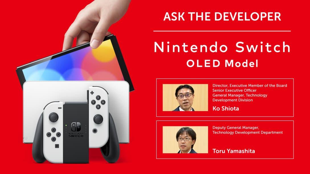 Nintendo lanza un nuevo Pregunta al desarrollador centrado en la creación de Nintendo Switch (modelo OLED)